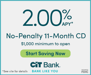 CIT Bank No-Penalty CD