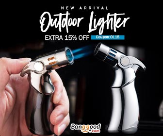 15% OFF Coupon for New Arrival Outdoor Lighter