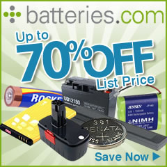 1000's of Batteries in Stock, Ready to Ship!