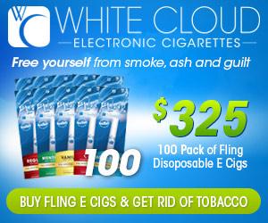 White Cloud Fling Disposables (100 Pack)