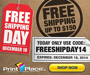 PrintPlace coupons to get Free UPS Ground Shipping on all orders up to $150