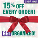 Save 15% off this holiday season with GetOrganized