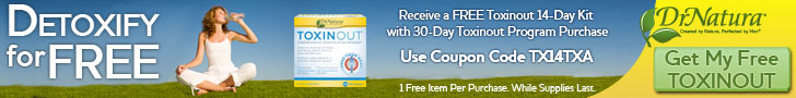 Free Toxinout 14-Day w/1 Toxinout. Code TX14TXA.