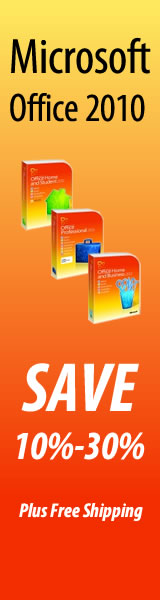 Save 10 to 30 percent off Microsoft Office 2010