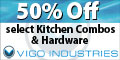 Save up to 50% off on select Vigo Kitchen combos and hardware on eFaucets.com