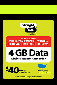 Straight Talk Promo Code for Mobile Hotspot Device + Mobile 4GB Data Plan