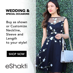 weddings & special occasions. Buy as shown or customize neckline, sleeve, and length to your style! Shop Now eShakti