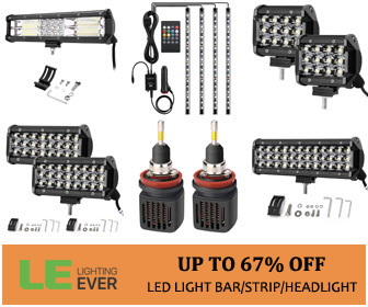 Up to 67% Off Automotive vehicle lighting, including off-road light bar, LED headlight and strips, s