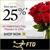 25% Off Flowers and Gifts (1/24-2/14/12) 200x200