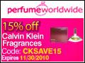 Calvin Klein 15% off (CKSAVE15)