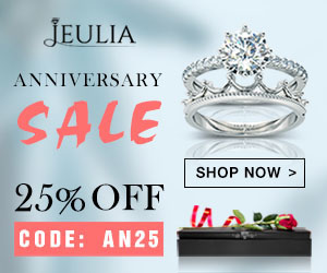 Jeulia Anniversary Sale, Extra 25% Off Coupon