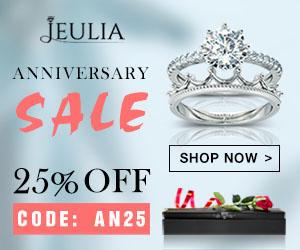 Jeulia Anniversary Sale, Extra 25% Off Coupon