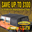 Premium Replacement Tops for your Jeep starting at $249.99