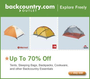 Save on Camping and Hiking equipment