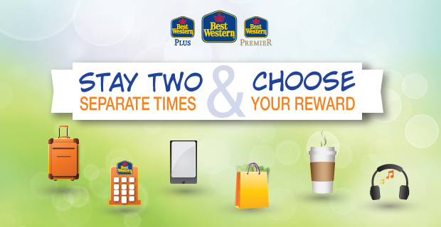 Stay Two Separate Times at Best Western & Choose Your Reward