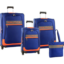 Holiday Special: Nautica Rhumb Line 4 Piece Spinner Luggage Set Now Only $239.95 Org. $1,240.00 Plus Free Shipping Use Promo Code LGRL at checkout.