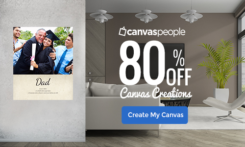 80% off all Canvas Creations