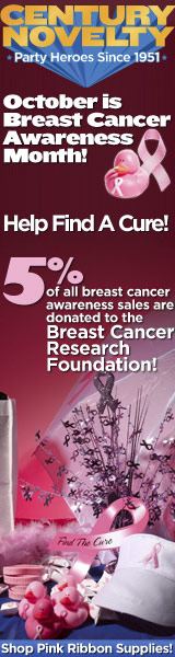 Century Novelty - Pink Ribbon Help Find a Cure