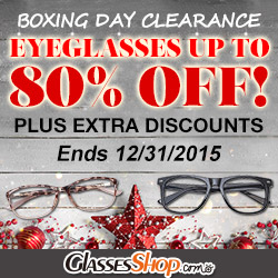 Boxing Day eyeglasses up to 80% off extra 20% off %amp0% off.