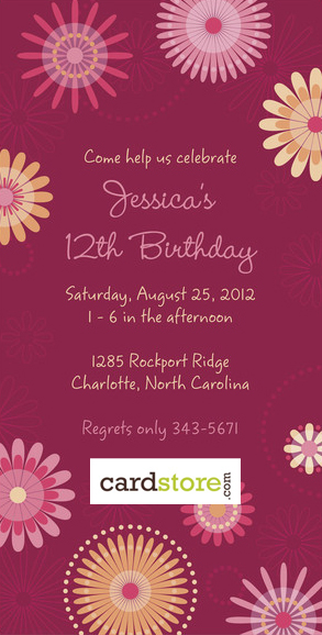 TODAY ONLY! 75% off Birthday Invites at Cardstore.com! Use code: CAL2136