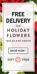 Free Delivery On Holiday Flowers $59.95 And Above