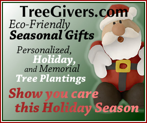 Seasonal gifts and tree plantings with TreeGivers