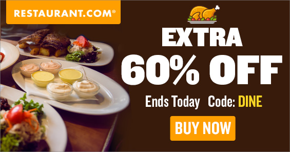 Best Deal on the Web   Hundreds of Restaurants Below Half Price