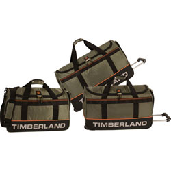 Timberland Kangamangus 3 Piece Wheeled Duffle Set Now Only $169.95 Org. $880.00 Plus Free Shipping Use Promo Code KGLG at checkout.