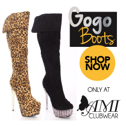 Shop AMIclubwear.com for great deals on fashionable GoGo boots!