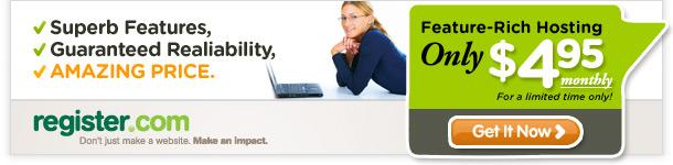 Register.com $4.95 Hosting Offer
