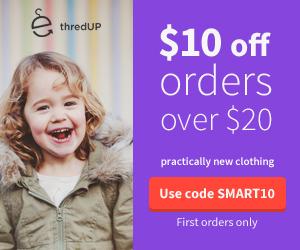 $10 off orders $20+ on thredUP.com