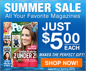 $5 Summer Sale - All Time Inc. Magazines 300x250
