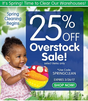 Spring Cleaning Sale - Save 25% Off Select Overstock Items & Get Free Shipping!