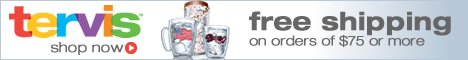 Free Shipping on orders over $75 at www.tervis.com