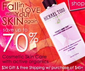 The best in cosmetic skin care with active organics, save up to 70%