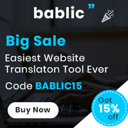 Image for Bablic - Get 15% off - 250*250