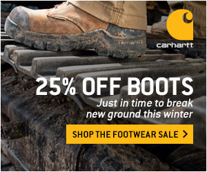 Save 25% on all boots & socks at Carhartt