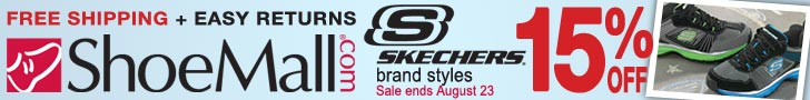 (8/17 - 8/23) Take 15% off all Skechers shoes, plu