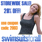 20% Off at Swimsuitsforall.com! Coupon Code 2003
