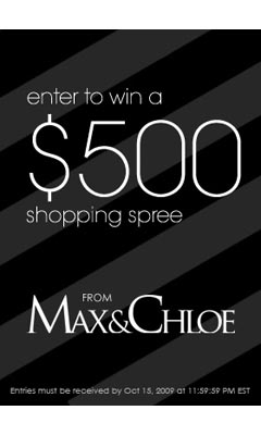 Win a $500 Shopping Spree at www.maxandchloe.com