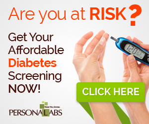 Diabetes Testing @ Personalabs.com banner