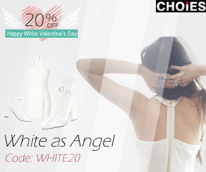 White Valentine's Day 20% off at Choies