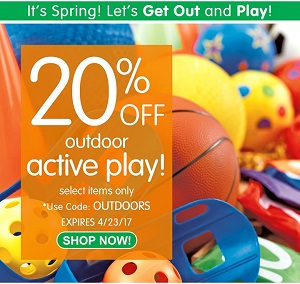 OUTDOOR ACTIVE PLAY Sale- Save 20% Off Select Items & Get Free Shipping On Stock Orders Over $99!
