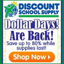 Dollar Days Are Back! Save Up To 80% at DiscountSchoolSupply.com!