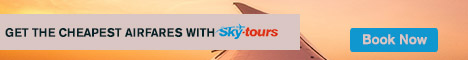 Get the cheapest airfares. Book with Skytours.