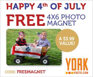 Free 4X6 Photo Magnet + 40 Free Photo Prints!