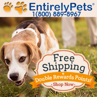 Limited Time, Free Ground Shipping on EntirelyPets.com orders.