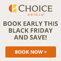 Choice Hotels: Black FridayDeal Save Up to 20% at Participating Hotels