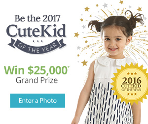 Be the 2017 CuteKid Winner!