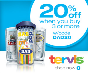20% off When You Buy 3 Or More Tumblers This Father's Day